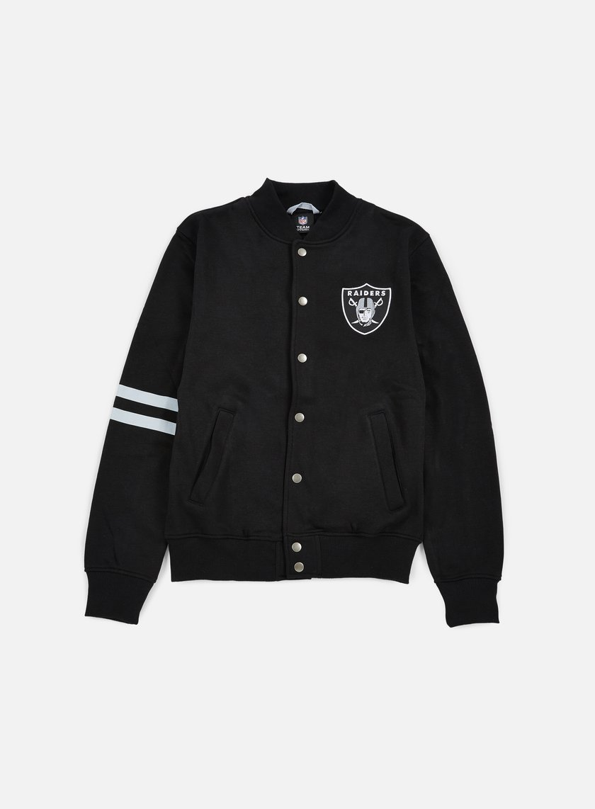 Majestic - Emodin Fleece Letterman Oakland Raiders, Black