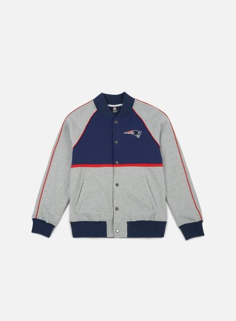 Outlet e Saldi Felpe College Majestic Fleece Letterman Jacket New England Patriots
