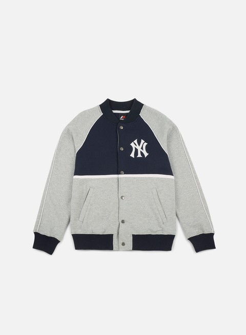 Outlet e Saldi Felpe College Majestic Fleece Letterman Jacket NY Yankees