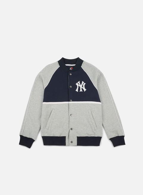 Outlet e Saldi Felpe College Majestic Fleece Letterman Jacket NY Yankees