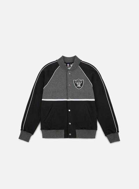 Sale Outlet College Sweatshirts Majestic Fleece Letterman Jacket Oakland Raiders