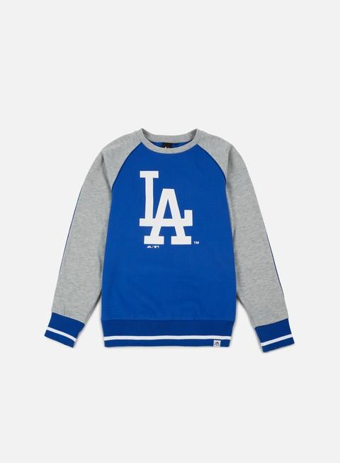 Outlet e Saldi Felpe Girocollo Majestic Fleece Raglan Crewneck LA Dodgers