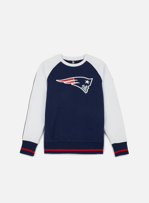 Outlet e Saldi Felpe Girocollo Majestic Fleece Raglan Crewneck New England Patriots