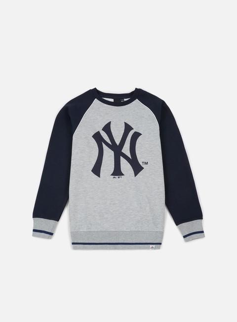 Outlet e Saldi Felpe Girocollo Majestic Fleece Raglan Crewneck NY Yankees