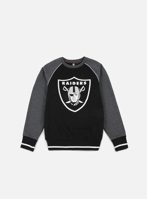 Sale Outlet Crewneck Sweatshirts Majestic Fleece Raglan Crewneck Oakland Raiders