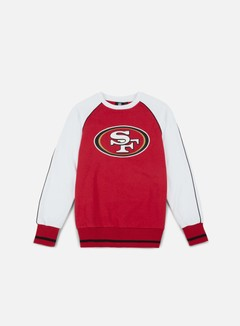 Majestic - Fleece Raglan Crewneck San Francisco 49ers, Red/White 1