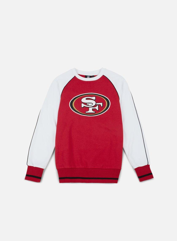 Majestic - Fleece Raglan Crewneck San Francisco 49ers, Red/White