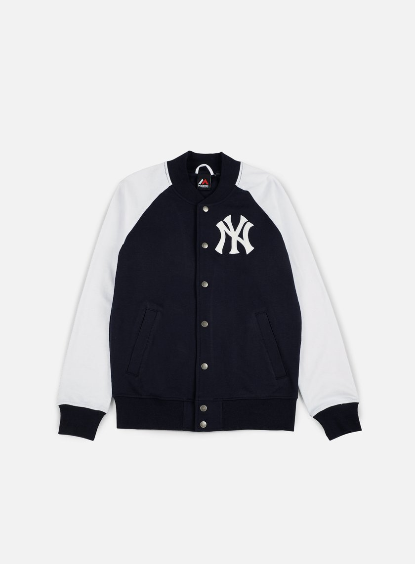 Majestic - Gadwell Fleece Letterman Jacket NY Yankees, Navy