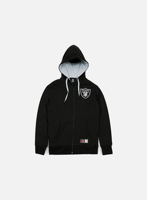 felpe majestic leptic full zip hoody oakland raiders black