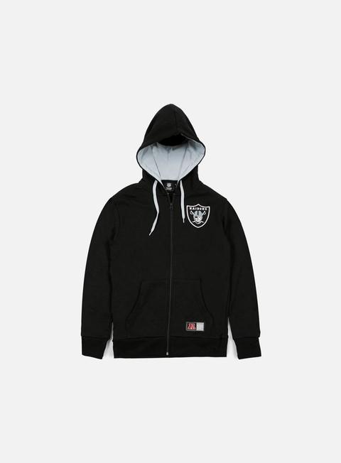 Felpe con Zip Majestic Leptic Full Zip Hoody Oakland Raiders