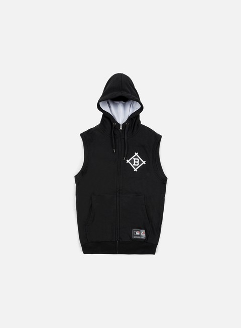 felpe majestic manial sleeveless hoody brooklyn dodgers black