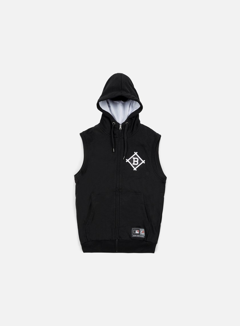 Majestic - Manial Sleeveless Hoody Brooklyn Dodgers, Black