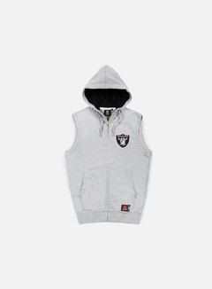 Majestic - Manial Sleeveless Hoody Oakland Raiders, Heather Grey