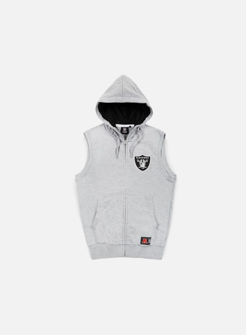 felpe majestic manial sleeveless hoody oakland raiders heather grey