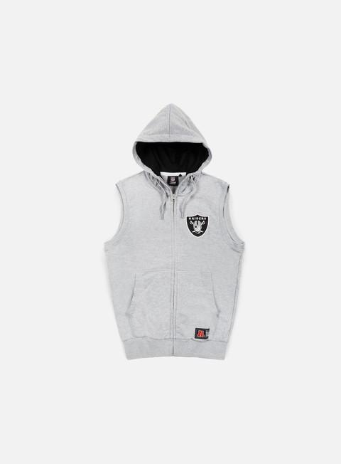 Felpe con Zip Majestic Manial Sleeveless Hoody Oakland Raiders