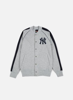 Majestic - Melter Fleece Letterman Jacket NY Yankees, Heather Grey 1