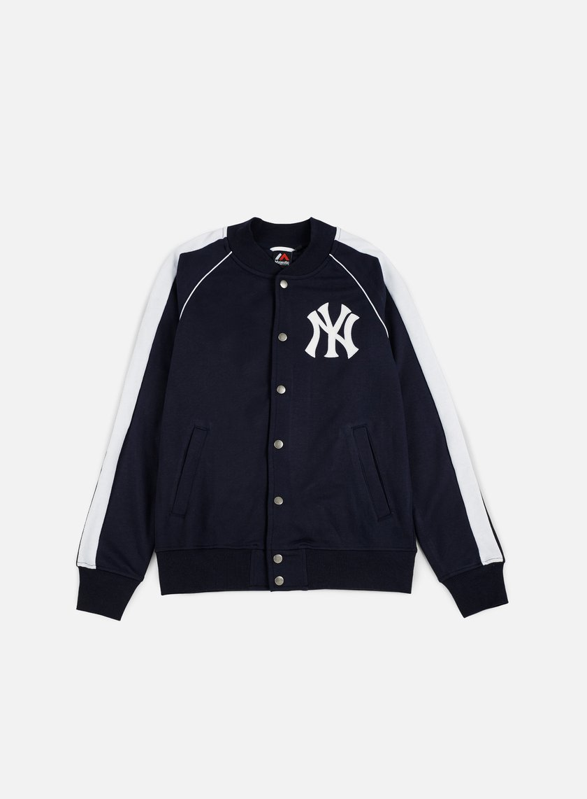 Majestic - Melter Fleece Letterman Jacket NY Yankees, Navy