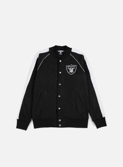 Majestic - Melter Fleece Letterman Jacket Oakland Raiders, Black 1