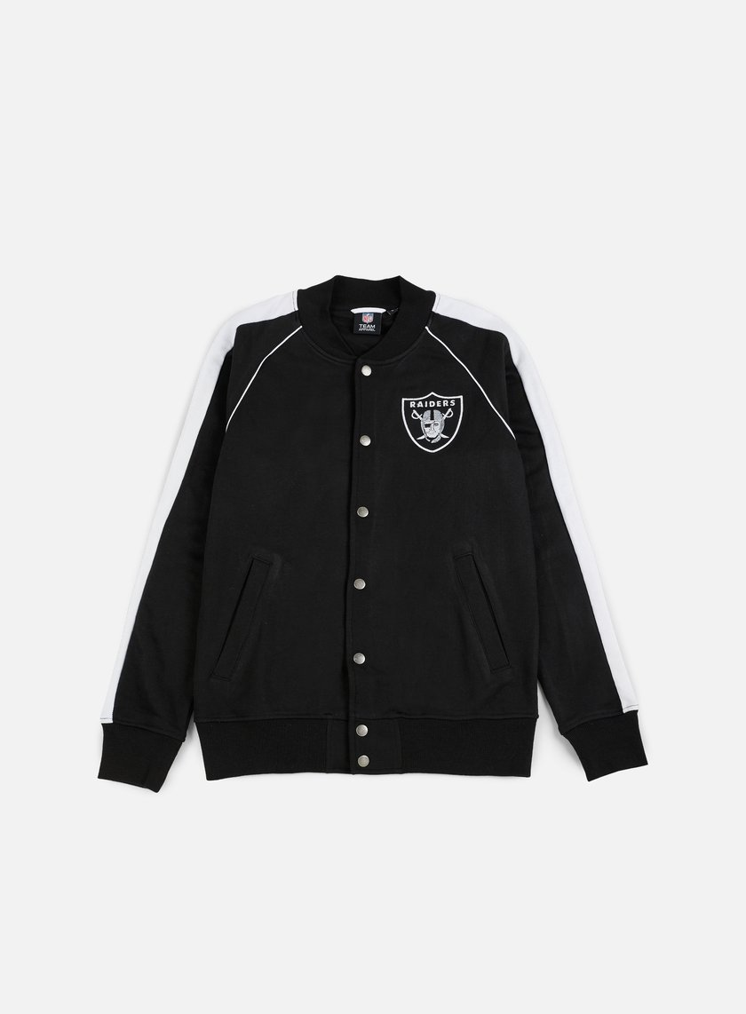 Majestic - Melter Fleece Letterman Jacket Oakland Raiders, Black