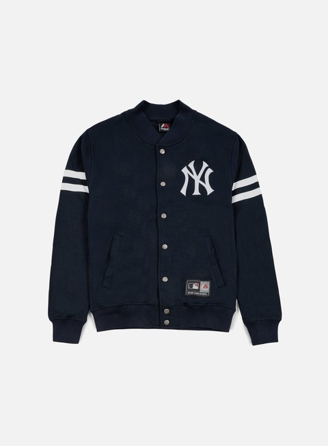 felpe majestic roper fleece letterman ny yankees navy