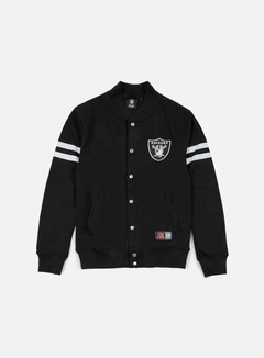 Majestic - Roper Fleece Letterman Oakland Raiders, Black 1