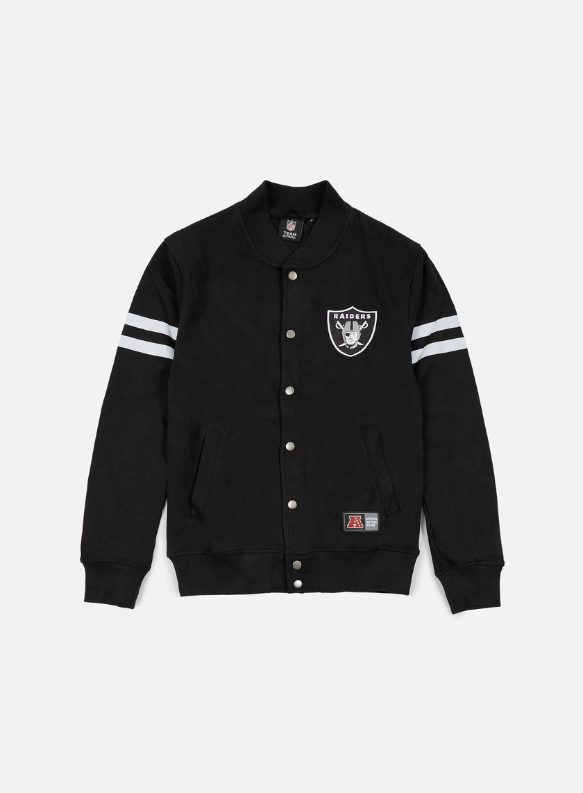 Majestic - Roper Fleece Letterman Oakland Raiders, Black