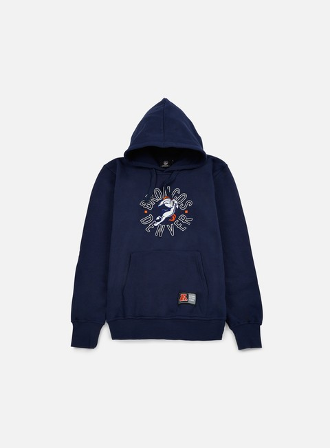 felpe majestic tamer oth graphic hoody denver broncos navy