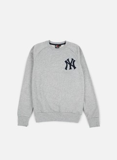 Majestic - Terren Loopback Crewneck NY Yankees, Heather Grey 1