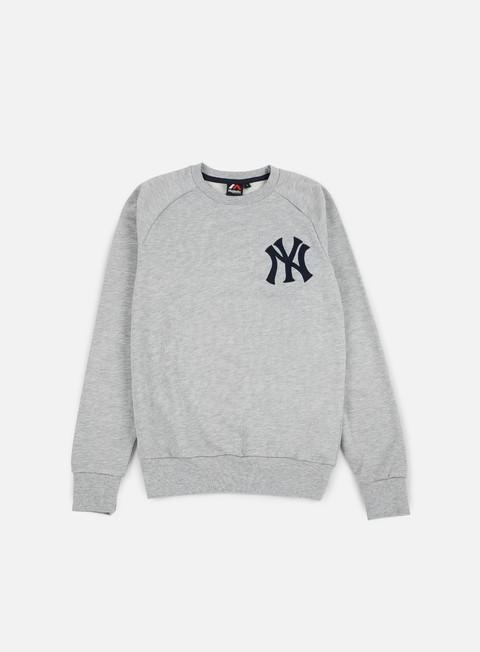 Outlet e Saldi Felpe Girocollo Majestic Terren Loopback Crewneck NY Yankees