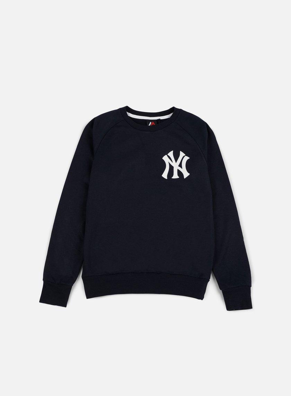 Majestic - Terren Loopback Crewneck NY Yankees, Navy