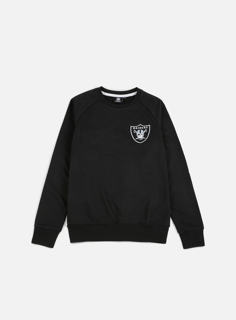 felpe majestic terren loopback crewneck oakland raiders black