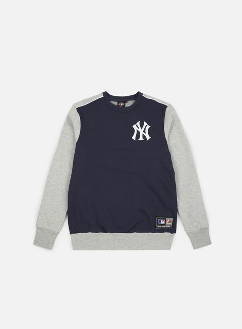 Outlet e Saldi Felpe Girocollo Majestic Tobias Small Logo Crewneck NY Yankees