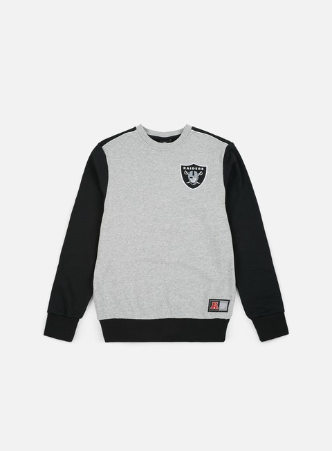 Sale Outlet Crewneck Sweatshirts Majestic Tobias Small Logo Crewneck Oakland Riders
