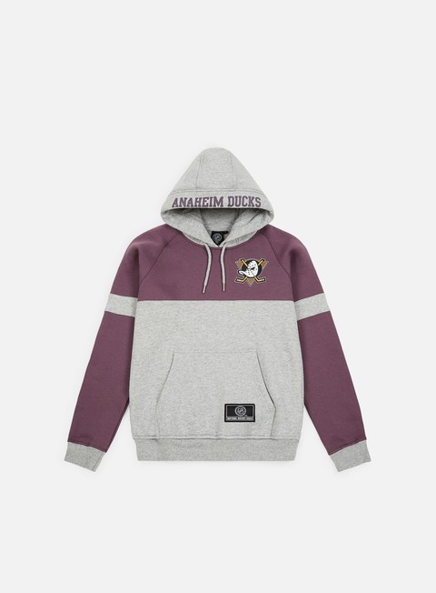 Outlet e Saldi Felpe con Cappuccio Majestic Wells Fashion Hoody Anaheim Ducks
