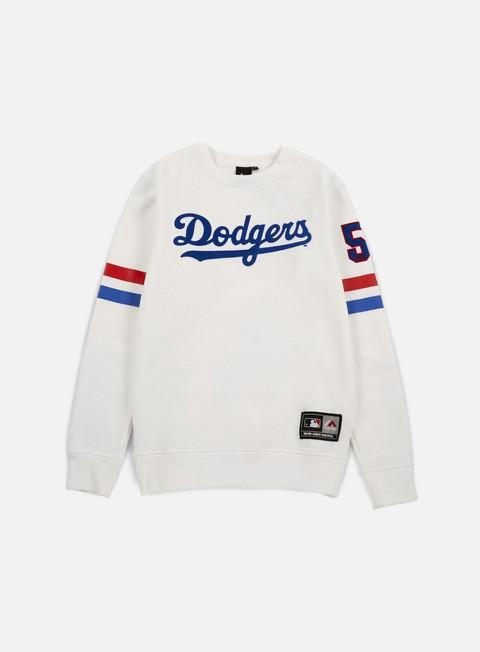 Outlet e Saldi Felpe Girocollo Majestic Yester Crewneck LA Dodgers