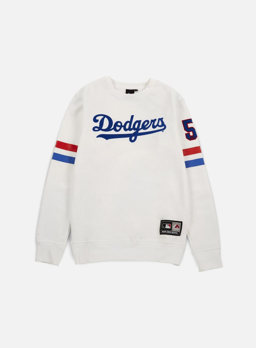 Majestic - Yester Crewneck LA Dodgers, White