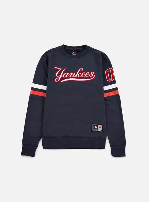 Outlet e Saldi Felpe Girocollo Majestic Yester Crewneck NY Yankees