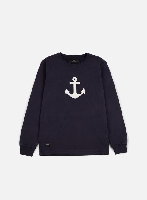 felpe makia anchor ls crewneck navy