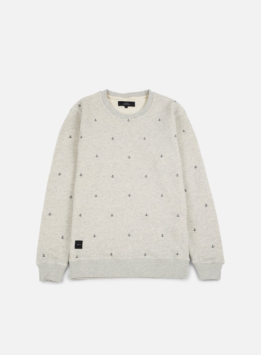 Makia - Anchors Sweatshirt, Grey