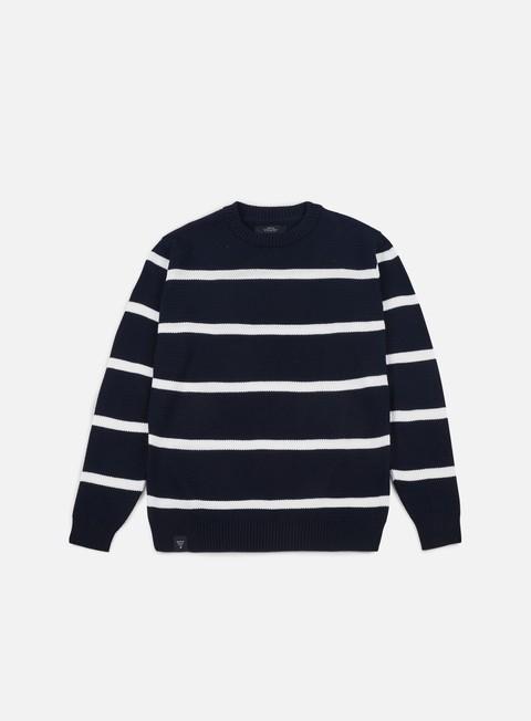 felpe makia bayside knit navy white
