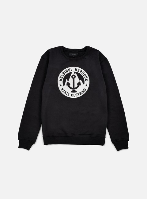 felpe makia harbour sweatshirt black