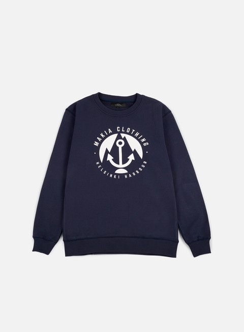 felpe makia harbour sweatshirt navy