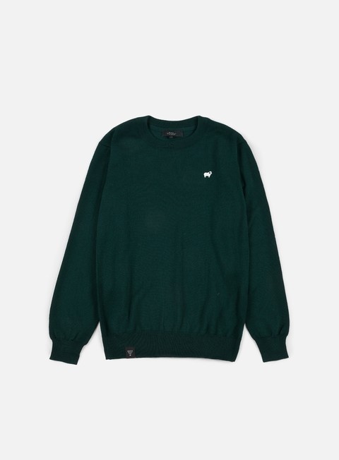 felpe makia merino knit green