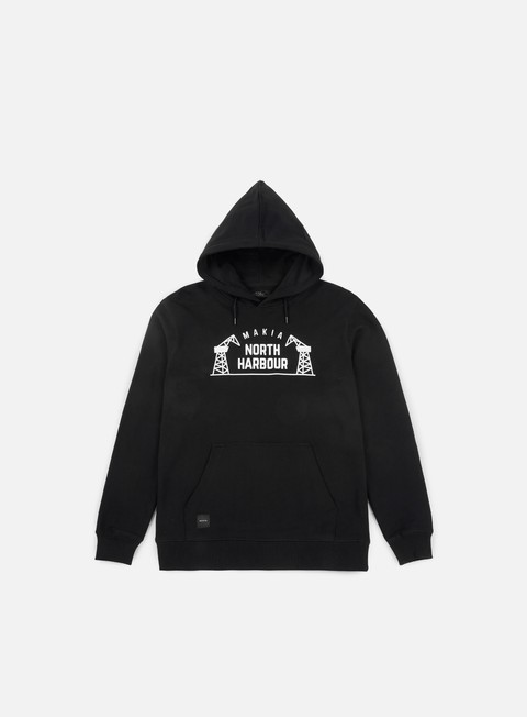 felpe makia north harbour hooded sweatshirt black