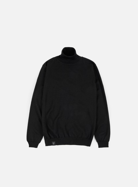 felpe makia roll neck knit black