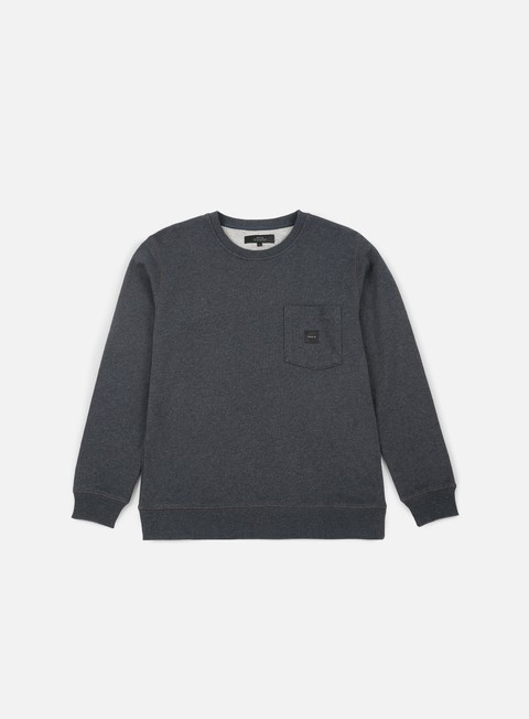 felpe makia square pocket sweatshirt dark grey