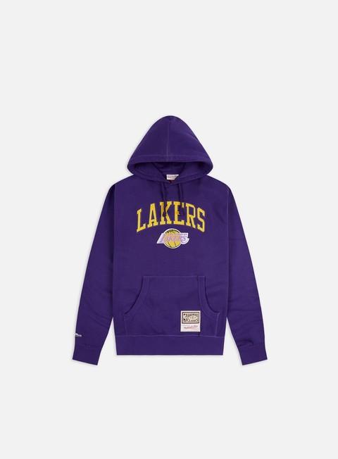Felpe con Cappuccio Mitchell & Ness Arch Hoodie LA Lakers