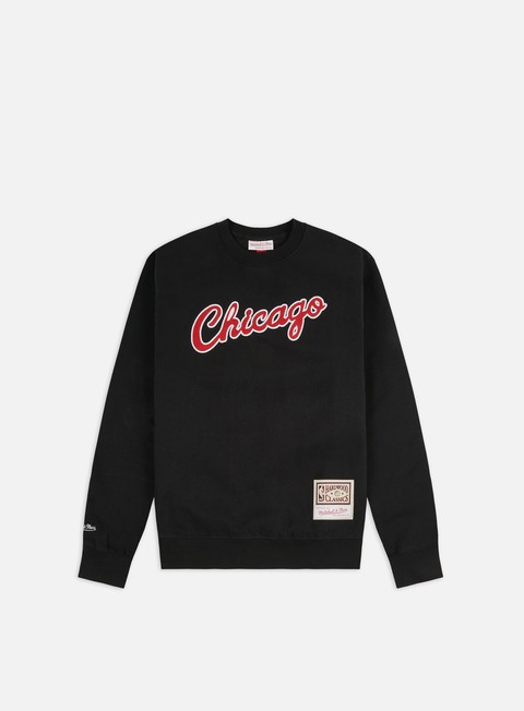 Felpe Girocollo Mitchell & Ness Embroidered Logo Crewneck Chicago Bulls