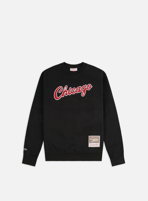 Mitchell & Ness Embroidered Logo Crewneck Chicago Bulls