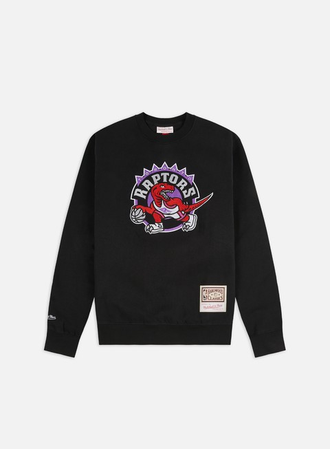 Felpe Girocollo Mitchell & Ness Embroidered Logo Crewneck Toronto Raptors